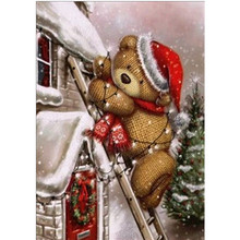 5D DIY Diamond Embroidered Teddy Bear Full Round Painting Cross Stitch Christmas Gift Valentines Day