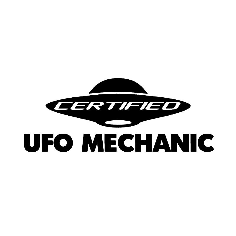 Auto Sticker Certified UFO Mechanic Logo for <font><b>Infiniti</b></font> Q50 G35 Q30 FX37 QC30 <font><b>QX80</b></font> QX60 Q30 Car Decal Styling Exterior <font><b>Accessories</b></font> image