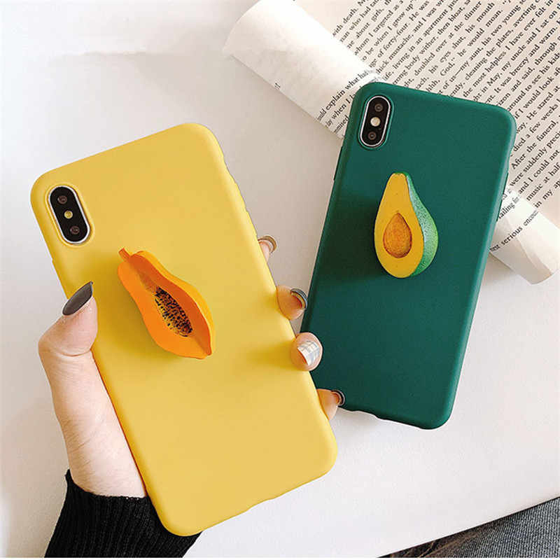 3D frutti Carino Molle Del Silicone Cassa Del Telefono Per Huawei P30 p20 Lite Pro P10 P9 Lite Y5 Y6 II Y5 2018 P di SMART Z Y6 Y7 Y9 2019 coque