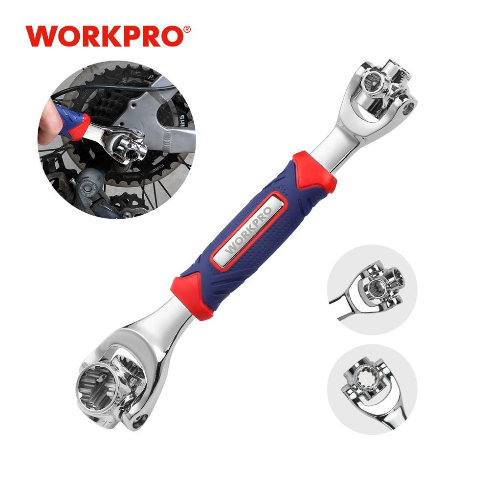 WORKPRO 8 In 1ประแจซ็อกเก็ตUniversal Socketประแจมัลติฟังก์ชั่360องศา6-Pointรถซ่อมเครื่องมือ