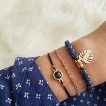 Европейский модный браслет из ветряного переплетения в форме лотоса, два сердца в форме листа, четыре бумажных браслета