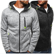 TJWLKJ Hoodies Men Sweatshirt Male Solid Color Fashion Personality Zipper coat Hoody Tracksuit Hip Hop Autumn Mens