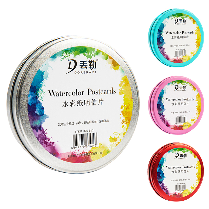 24sheets/Books 300g Watercolour Paper Pad Sheets 300gsm for Watercolour Painting Art Supplies