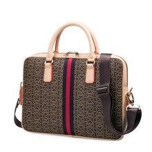 купить Leather men's Briefcase men Computer laptop Handbags messenger bags Women's shoulder bags briefcases for documents bag дешево