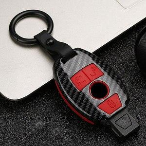 ABS de fibra de carbono funda de llave de control remoto para coche para Mercedes benz B R G clase GLK GLA w204 W251 W463 W176