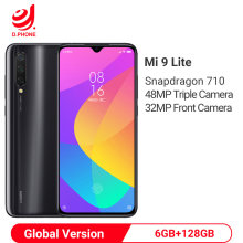 Xiaomi mi 9 Lite 6GB 128GB versión Global Smartphone Snapdragon 710 48MP Triple Cámara 32MP cámara frontal pantalla OLED teléfono móvil(Hong Kong,China)