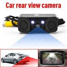 Zeepin 170 градусов HD Автомобильная камера заднего вида с радиолокационным датчиком парковки IP67 Поддержка ночного видения для безопасности вождения