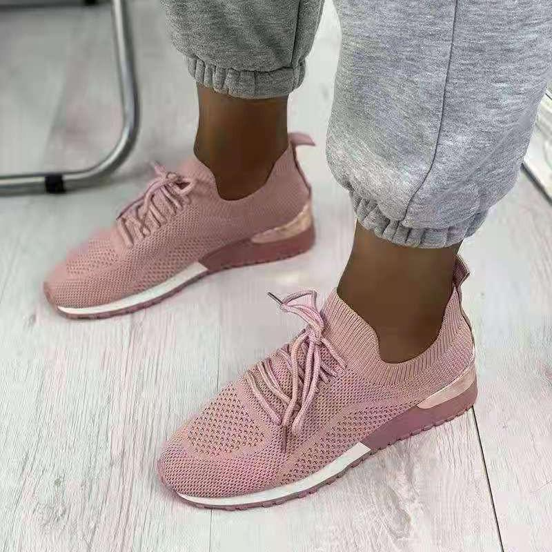 Women Sneakers Breathable Plus Size 43 Solid Ladies Shoes Walking Fashion Summer Flats 2021 New Ytmtloy