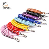 Snailhouse PU Leather Pet Dog Leash Rope For Small Dogs kitten Pets Solid Color Leashes Teddy Dog Leash Lead Durable Pet Product