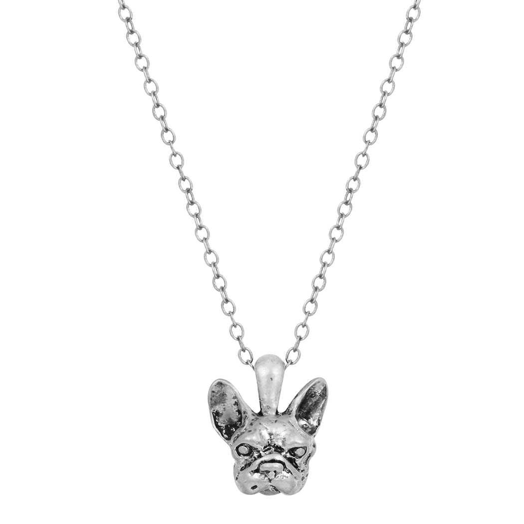 Kinitial แฟชั่นฝรั่งเศส Bulldog Pug Dog สร้อยคอสร้อยคอสร้อยคอสร้อยคอสร้อยคอ Choker การ์ตูนสัตว์ Charm สร้อยคอเครื่องประดับสำหรับสุภาพสตรี