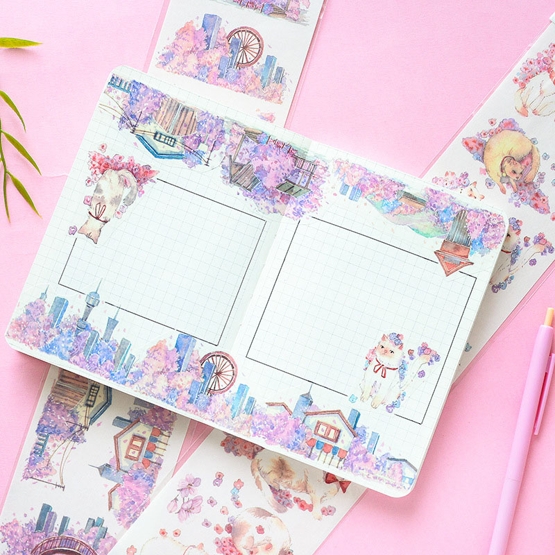 1Pc Cute Decor Stationery Stickers Kawaii Cherry Stickers Paper Adhesive Sticker For Kids Scrapbooking Diary Supplies