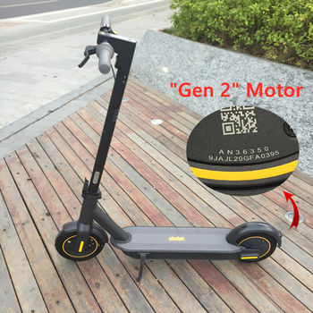Stock europeo Original Ninebot MAX G30 Scooter eléctrico inteligente plegable 65km máximo kilometraje KickScooter freno doble Skateboard con aplicación
