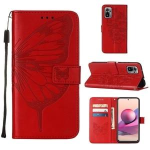 Image 3 - Vlinder Bloem Leather Telefoon Case Voor Xiaomi Redmi Note 10 10S Pro 9 9T Poco X3 Nfc F3 m3 Mi 10S 11 Wallet Flip Back Cover