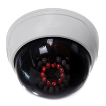 Indoor CCTV Fake Dummy Dome Security Camera with IR LEDs White