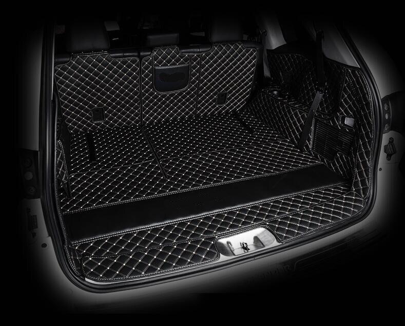 3D luxe plein coffre arrière plateau Liner Cargo Mat protecteur tapis tapis pour Toyota Highlander 2015 2016 2017 2018 2019 5/7 sièges année