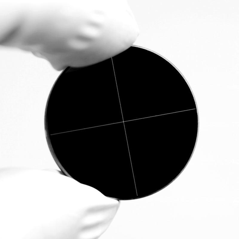 937 negativo microscópio de vidro óptico corrediça darkfield linha brilhante cruz chrome microscopio reticular ocular grafite - 4