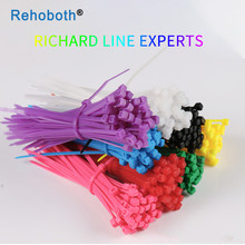 100 pcs 12 color 3*100mm Self-locking Nylon Cable sleeve Ties Plastic Zip Tie Colorful  wire binding wrap straps UL Certified