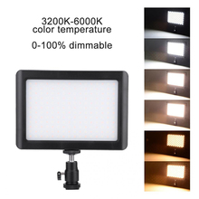 LED Videolight LED Streaming Light 3200K 6000k Bi color Dimmable Photography Lighting for Youtube Camera Live Tripod Fill Lamp