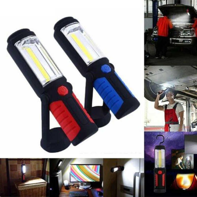 LED Work Light COB Car Lamp Rechargeable Battery Workshop Lamp Hand Flashlight