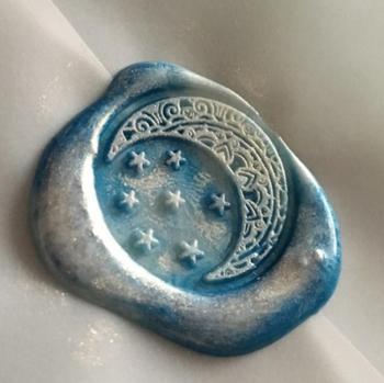 Księżyc gwiazdy gwiaździste niebo wosk pieczęć Retro drewno mosiądz pieczęć pieczęć pieczęć woskowa ślub dekoracyjne pieczęć woskowa tanie i dobre opinie XunMade CN (pochodzenie) seal stamp Standard Stamp Metal Personalized Motto