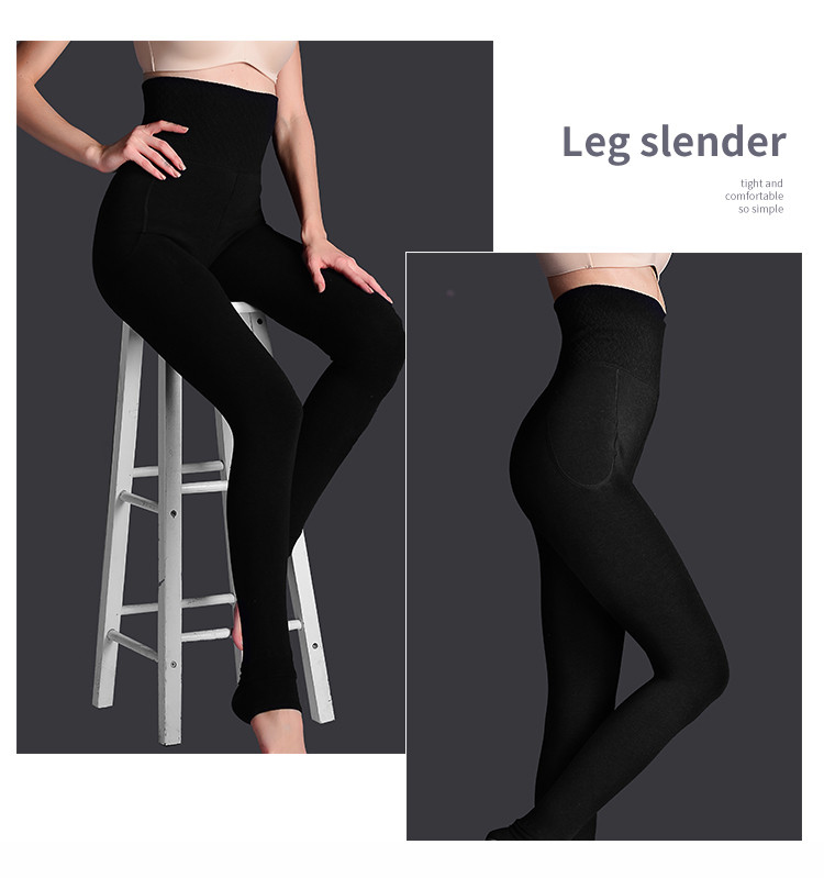 H5799e7dacba845ea9e1b06dc8f763fdan - Feilibin Winter Women Leggings Thick Winter Warm Pants High Waist Slimming Thicken High Elastic Women's Warm Velvet Leggings