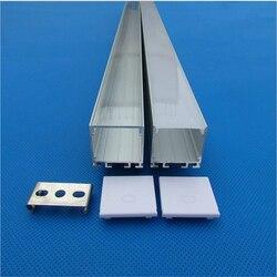 10-30 قطعة/الوحدة 80 بوصة 2 متر 26 مللي متر واسعة مواسير ألومنيوم للمبات الليد ، شقة led قناة للإضاءة الإطار ، ستيتشابك قلادة الشريط الإسكان