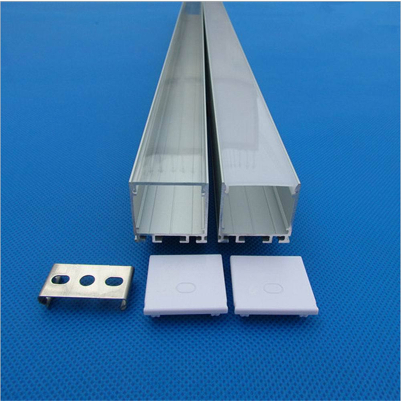 10-30pcs/lot 80inch 2m 26mm Wide  Led Aluminium Profile, Flat Led Channel For Lighting Frame ,stitchable Pendant Tape Housing
