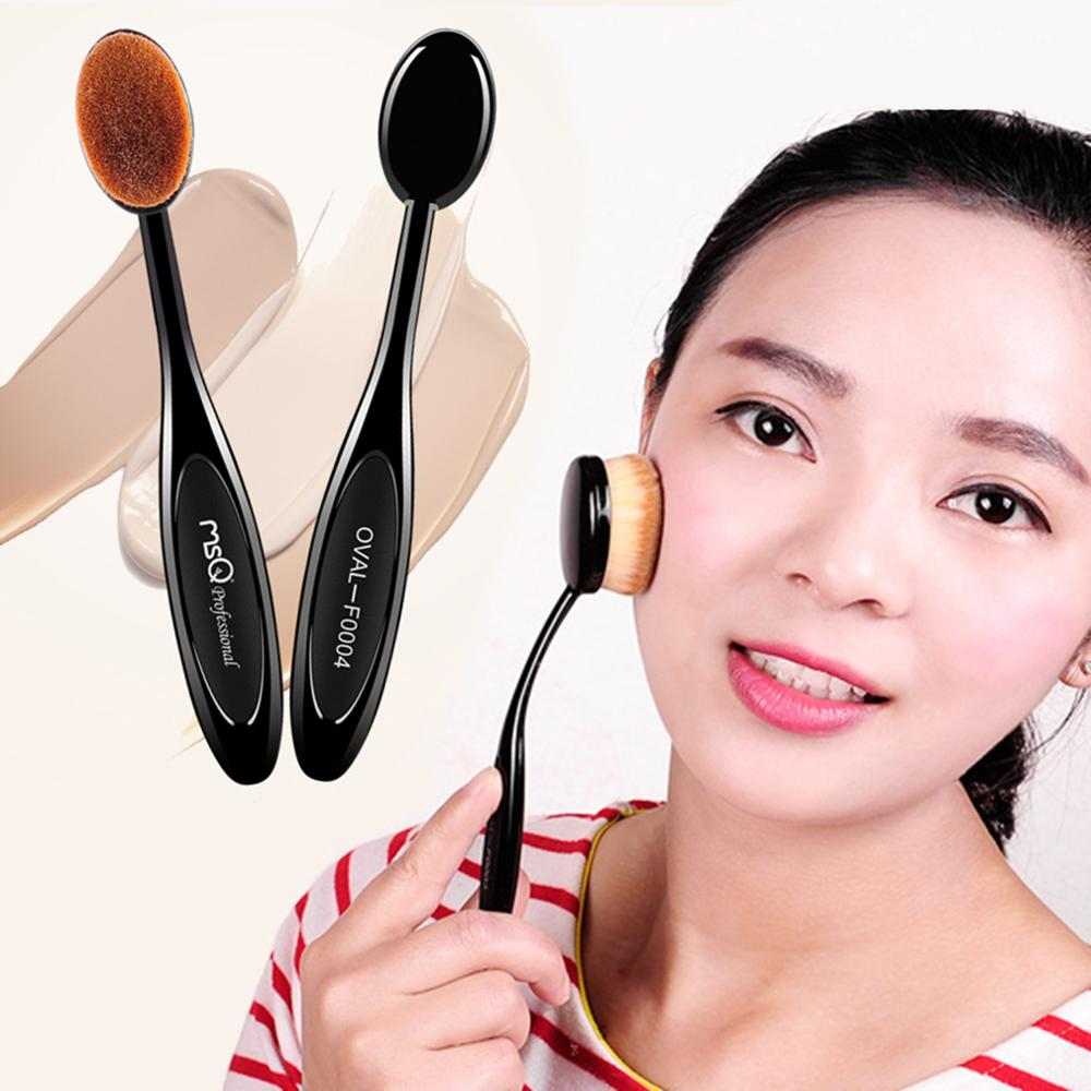10 pcs Toothbrush Shaped Makeup Brushes Set Foundation Powder EyeShadow Blending Eyeliner Eyelash Eyebrow Brushes Black image