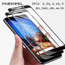 2 pacote de segurança de vidro protetor de tela de proteção para google pixel 3 4 3a capa completa para pixel 3a 4 xl 4a 9h filme de vidro temperado