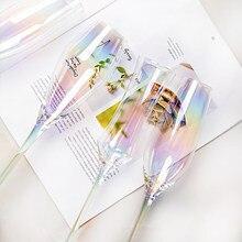 Wind regenbogen glas schrittweise ändern sieben farbe glas becher nördlichen Europa blenden farbe wein glas champagner glas rotwein glas