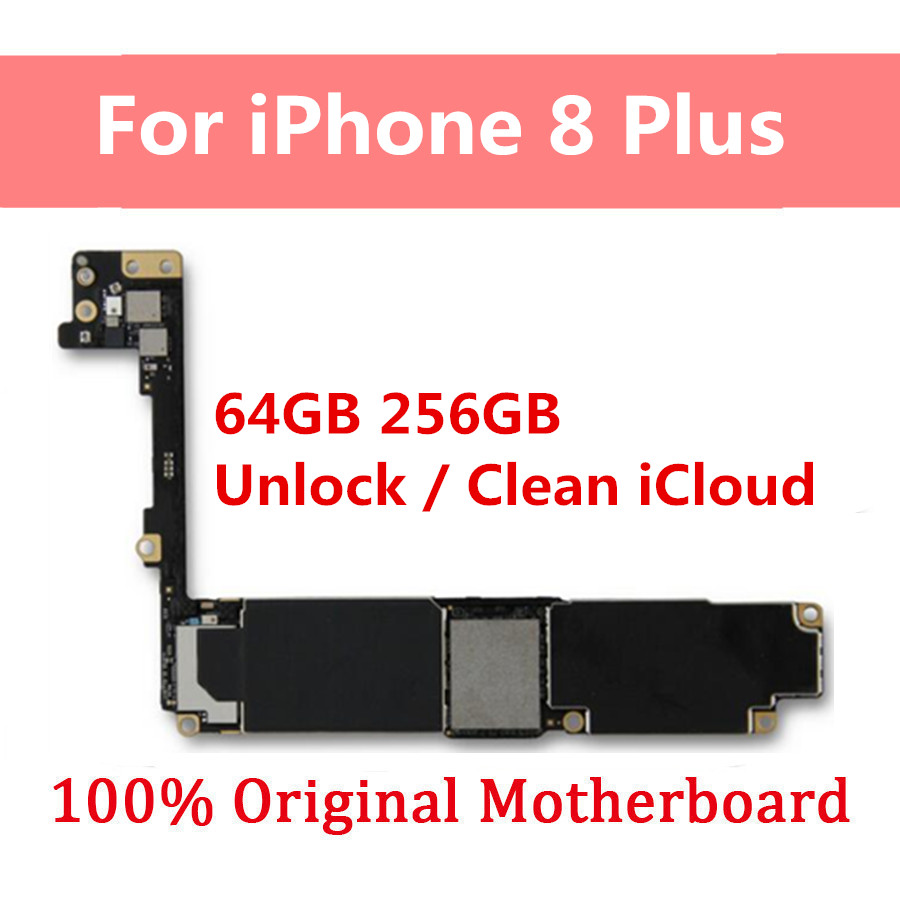 Iphone 8 Plus Unlocked | Motherboard For IPhone 8 Plus Without Touch ID,100% Unlocked For IPhone 8 Plus Original Mainboard Full Working 64GB 256GB Chips