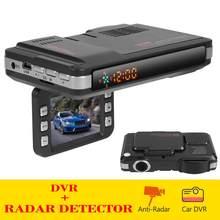 Vgr3 2 em 1 ventosa carro dvr traço cam gravador de vídeo do veículo automático voz alerta aviso radar detector x k ka banda