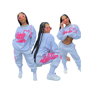 Two Piece Women Set Sport Casual Outfit Fall Clothes for Women Sweatshirt Jumper Top Sweatpants Set Women Suit Set Tracksuit