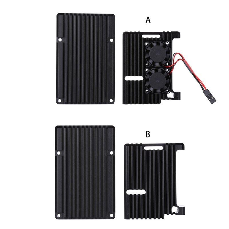 Aluminum Alloy Enclosure Case Metal Shell Black Box Radiating Plate Heatsink Cooler For Raspberry Pi 4 Model B PXPA
