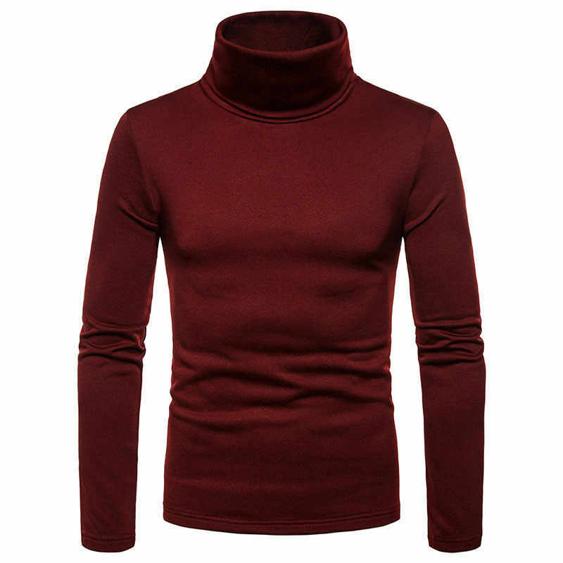新メンズシャツストリート暖かい冬暖かいハイネックプルオーバージャンパータートルネックファッションシャツ 4 色高品質ブラウス