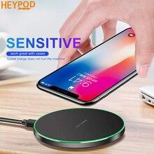 Беспроводное зарядное устройство HEYPOD 10 Вт Qi для iPhone 11 Pro XS Max XR X 8 Plus, usb зарядное устройство для samsung S7 S9 S8 Note8
