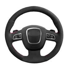 Hand Sew Black Suede Car Steering Wheel Cover for Audi A3 8P Sportback A4 B8 Avant A5 8T A6 C6 A8 D3 Q5 8R Q7 4L S3 S4 03l965561a secondary coolant additional auxiliary water pump for audi a4 a5 a6 avant b8 v w amarok 03l965561a