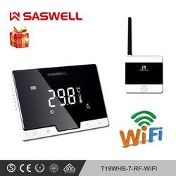 SASWELL WiFi Thermostaat Temperatuur Controller smartphone APP flat terug wall mount kamer draadloze programmeerbare Thermoregulatort