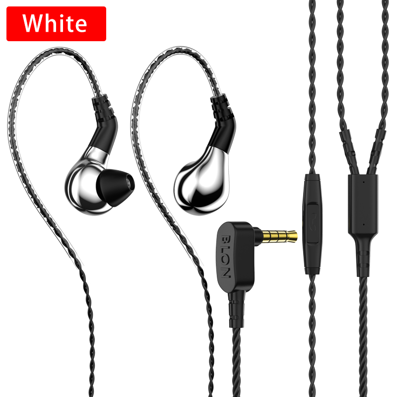 New Blon BL-03 Sports Earphone Professional 10mm Carbon Nanotube Diaphragm High Dynamic HIFI Earphone with detachable Cable image