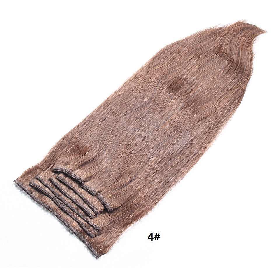 Maxglam Düz Klip insan saçı postiş Brezilyalı Remy Saç Klipleri ins 100g/9 adet 140 g/adet 1 # # 1B #2 #4 #27 #613