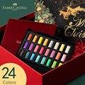 Faber-castell 24 cores metal sólido aquarela pintura conjunto com escova de pintura portátil aquarela pigmento para pintura arte suprimentos