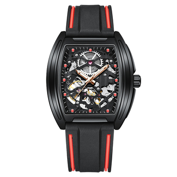 2020 new AILANG automatic mechanical men military luxury brand-name business hollowed out waterproof gents watches Rubber strap