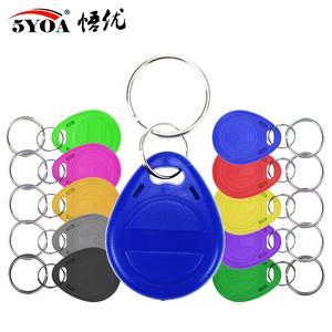 Image 1 - 50pcs/lot EM4305 T5577 125khz Copy Rewritable Writable Rewrite keyfobs RFID Tag Key Ring Card Proximity Token Badge Duplicate