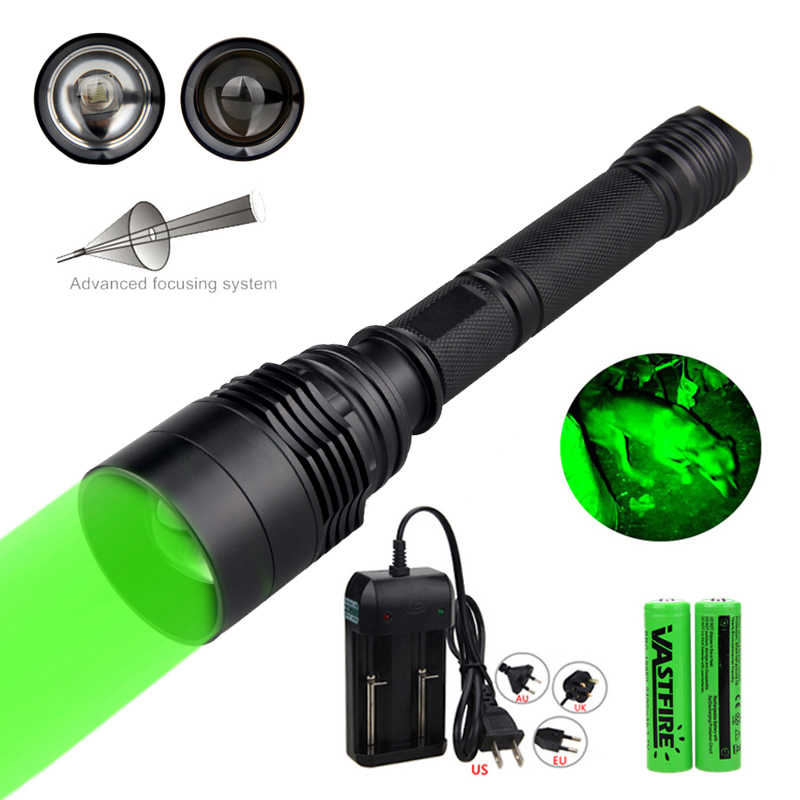 LED Flashlight 10000 Lumen Zoomable T6 Kuat Senter Lentera Taktis Berburu Lampu Tangan Lampu + 18650 + Charger
