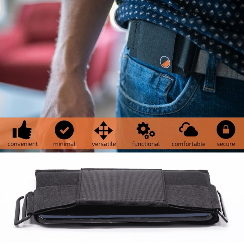 Minimalist Invisible Travel Wallet Packs Waist Bag Mini Pouch For Key Card Phone Sports Outdoor Belt Bag Hidden Security Wallet