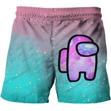 4-14Year Children Among Us Shorts Kids Short Pant Summer Cartoon Impostor Boys Beach Shorts Leisure Capris Baby Fashion Clothing
