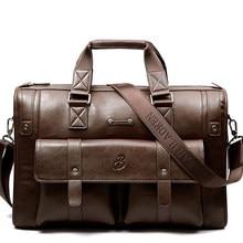Мужской кожаный черный портфель, деловая сумка, большие вместительные сумки, Мужская винтажная сумка на плечо, Мужская вместительная сумка ...