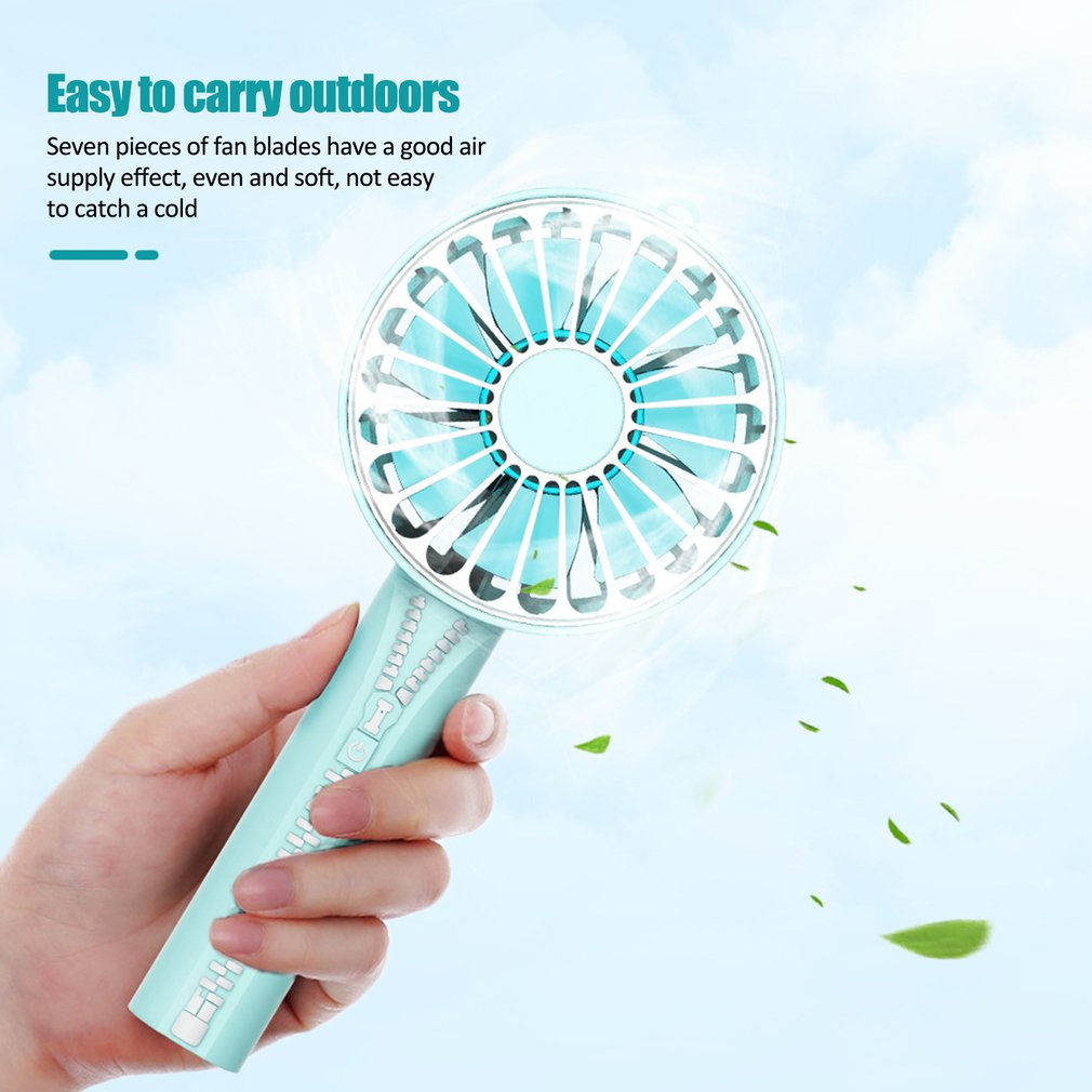 Portable HandFan USB Rechargeable Foldable Handheld Mini Fan Cooler 3 Speed Adjustable Cooling Fan Outdoor Travel Air Cooler|Fans| |  - title=