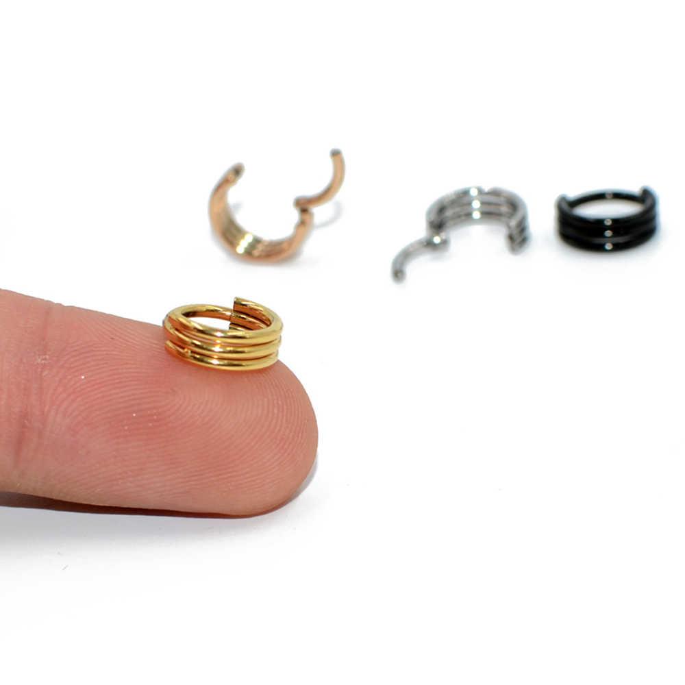 1 MÁY TÍNH G23 Titan/Thép Không Gỉ Móc Phân Đoạn Mũi Nhẫn Núm Vú Clicker Huấn Sụn Tai Tragus Xoắn Môi Xuyên Unisex Thời Trang jewelry16g