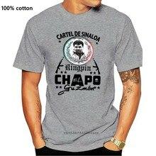 Camisa de algodão da moda do estilo clássico do gângster do cartel de sinaloa de el chapo guzman